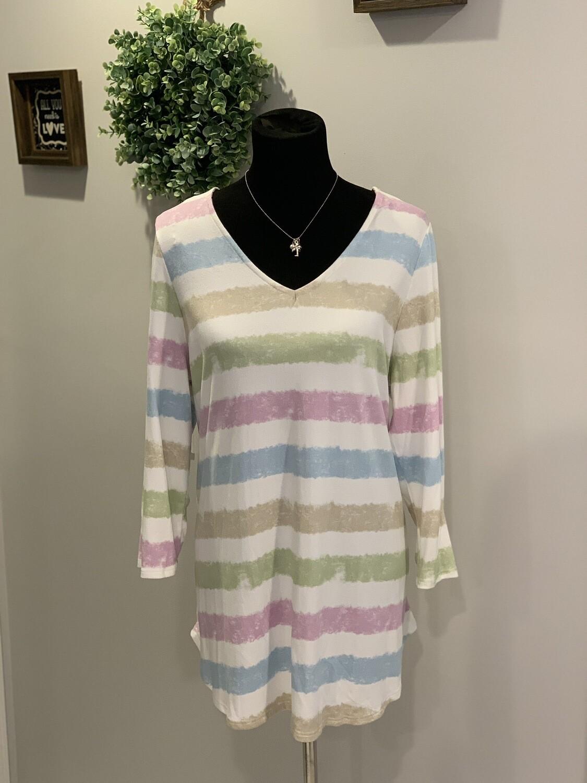 Cali Stripe Shirt Plus