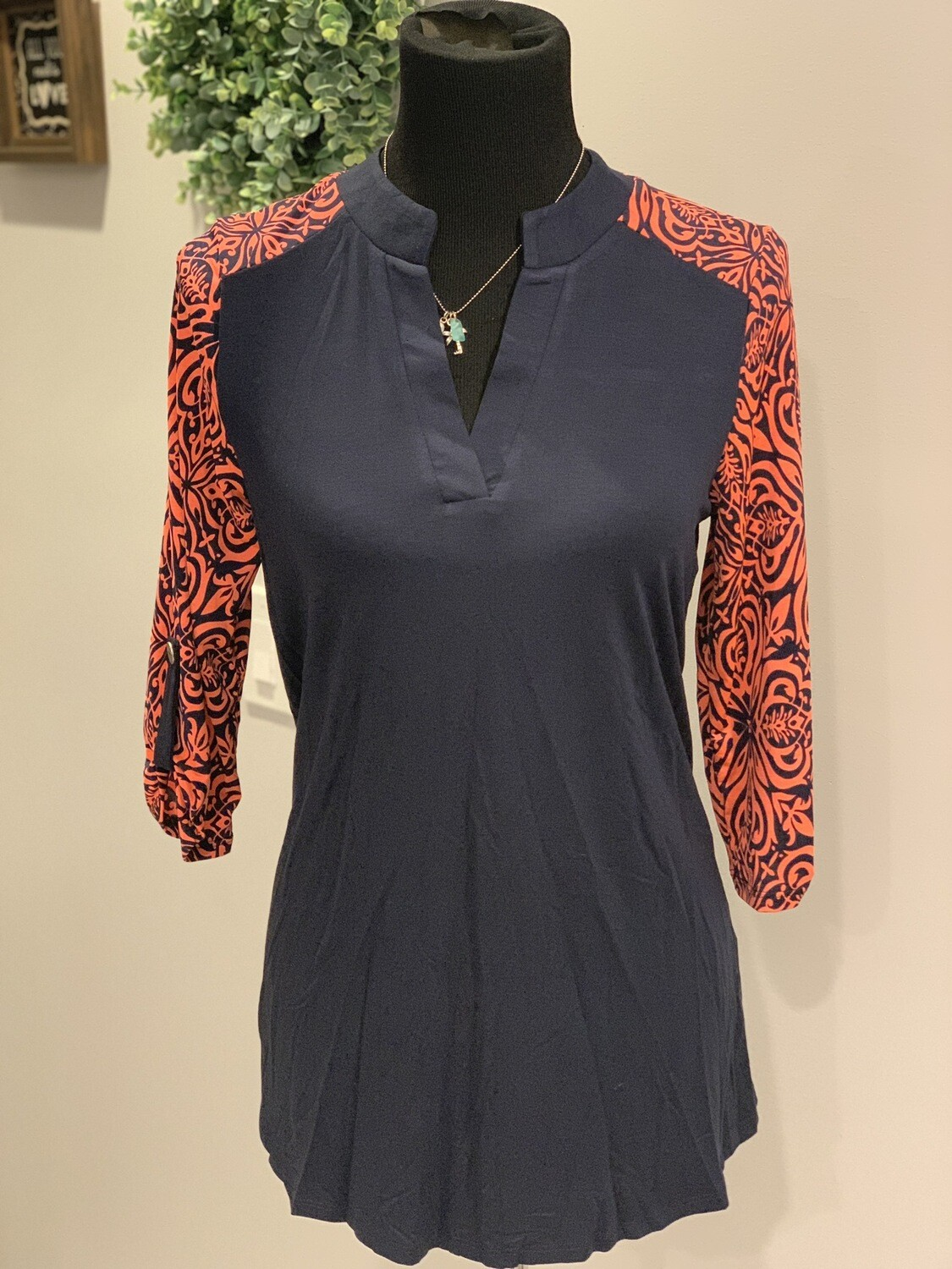 Navy coral Sleeves