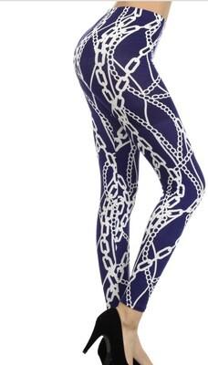 Blue Chain Leggings