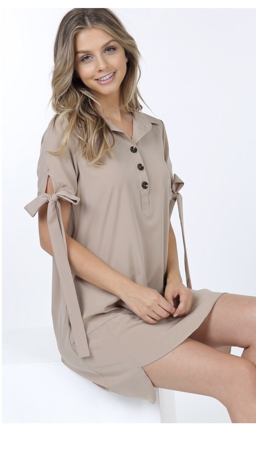 Shirt Dress With Ties