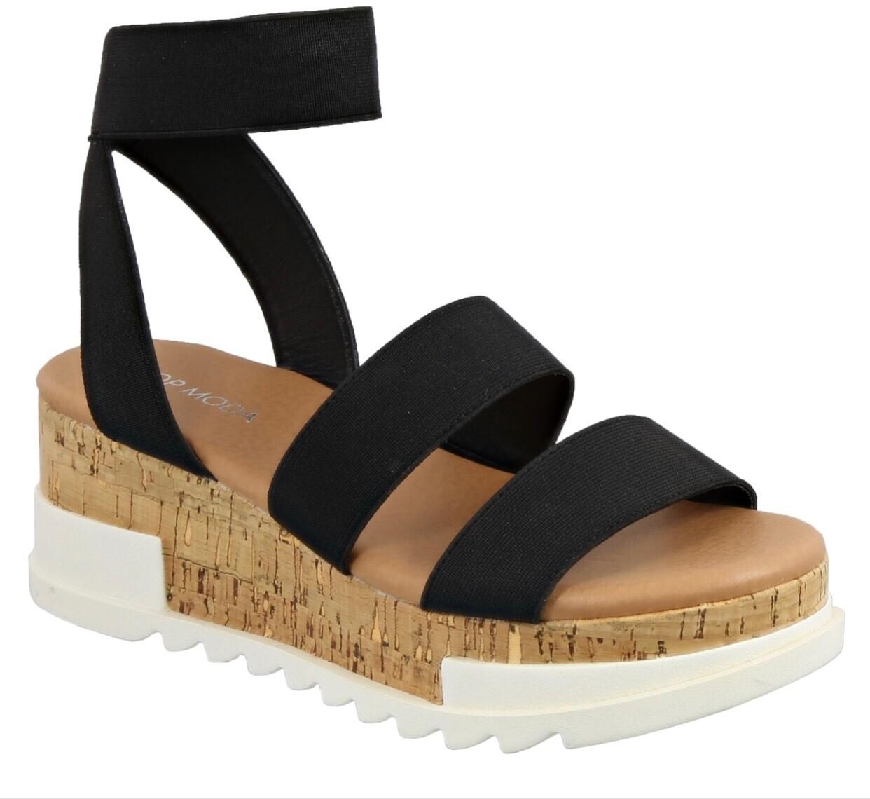Black Cork Sandals