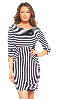 Slimming Navy Dress