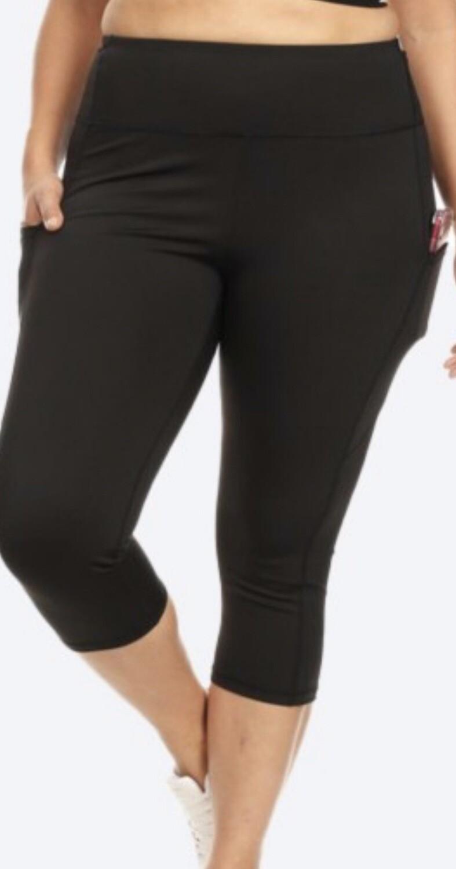 Plus Black Athletic Leggings
