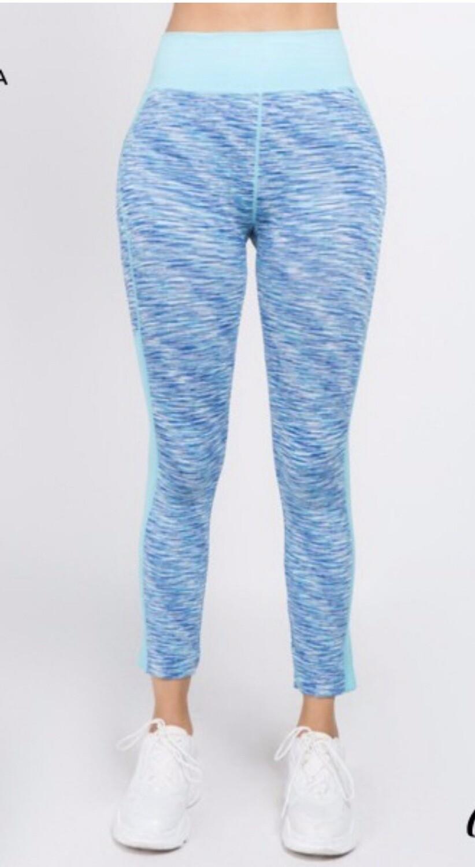 Blue/ Purple Athletic Leggings