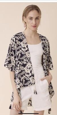Navy/Beige Kimono