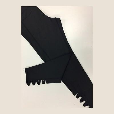 Black Crisscross Athleisure Plus Leggings
