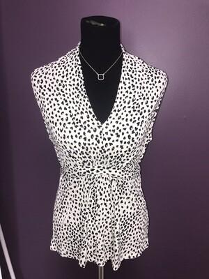 White Leopard Blouse