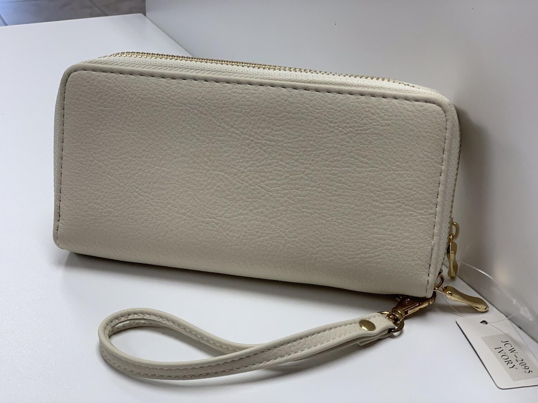 Cream Wallet Wristlet