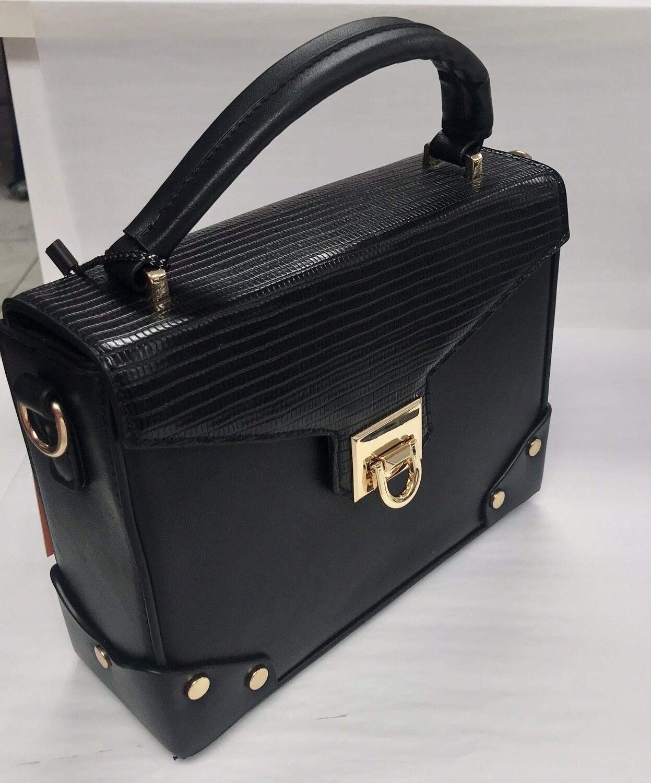 Noir Snakeskin Bag