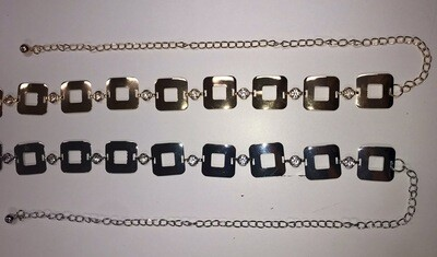 Square Metal Chain Belt