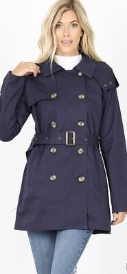 Midnight Navy Pea Coat