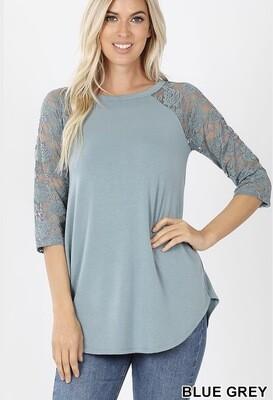 Lacey Raglan Sleeve Top