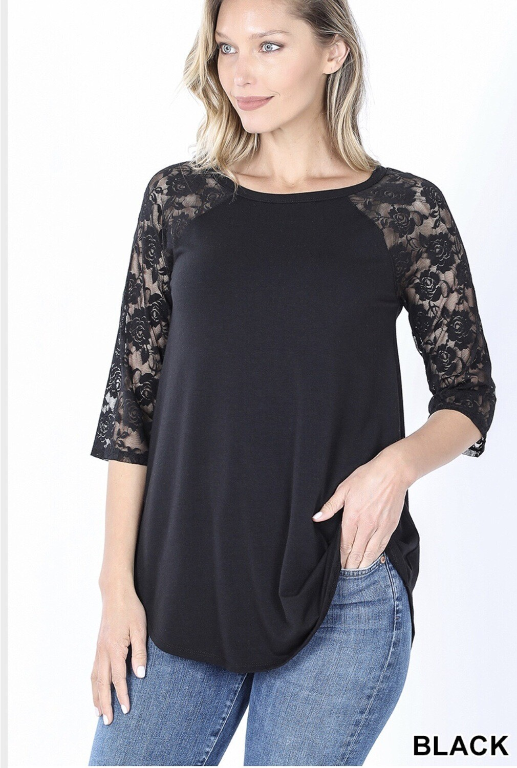 Lacey Raglan Sleeve Plus Top