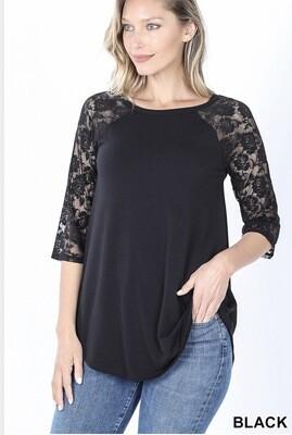 Lacey Raglan Sleeve Plus Top