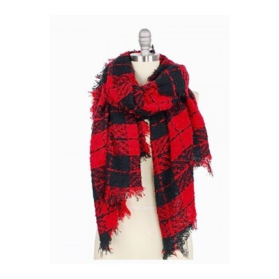 Red/Black Plaid Scarf