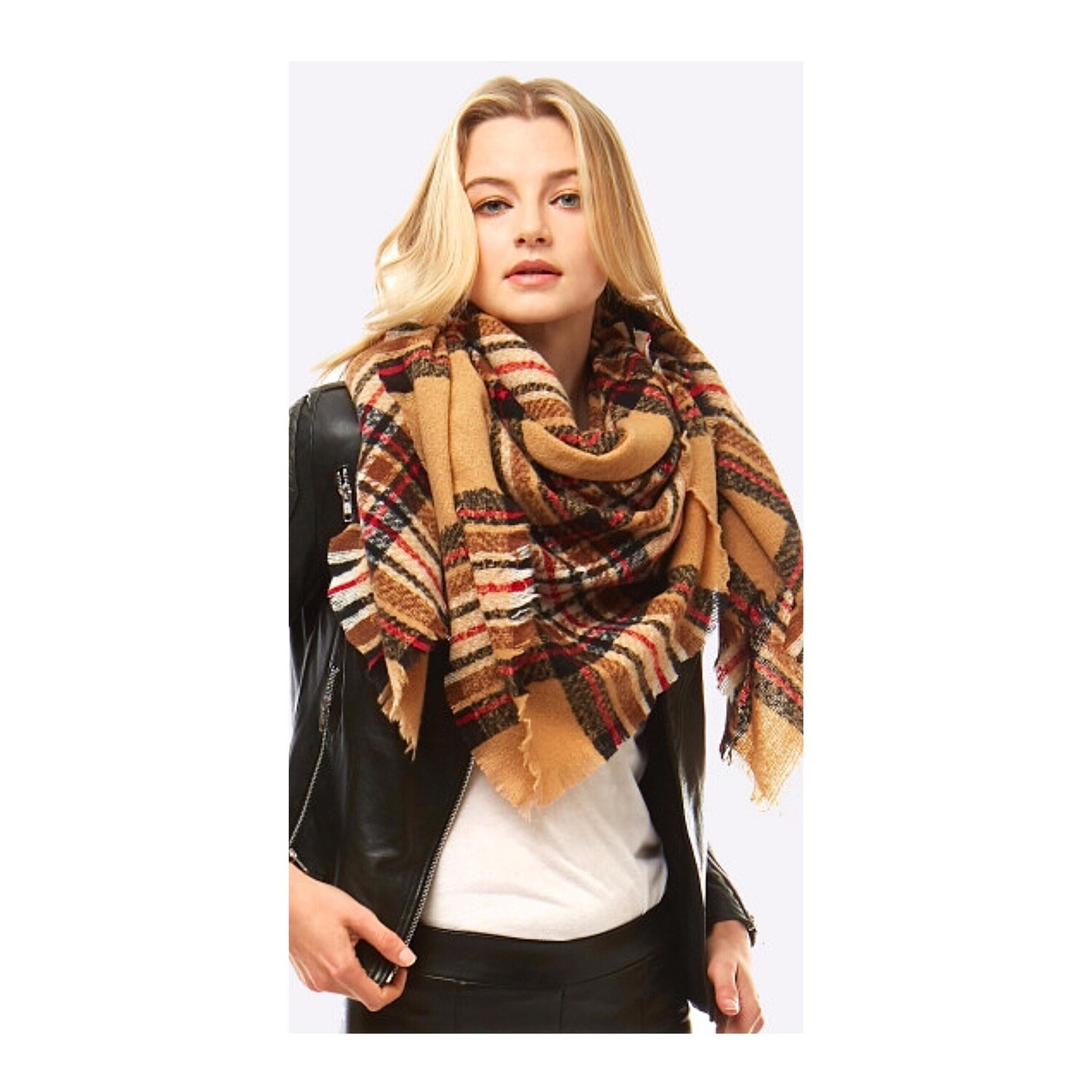 Mustard/Brown Scarf