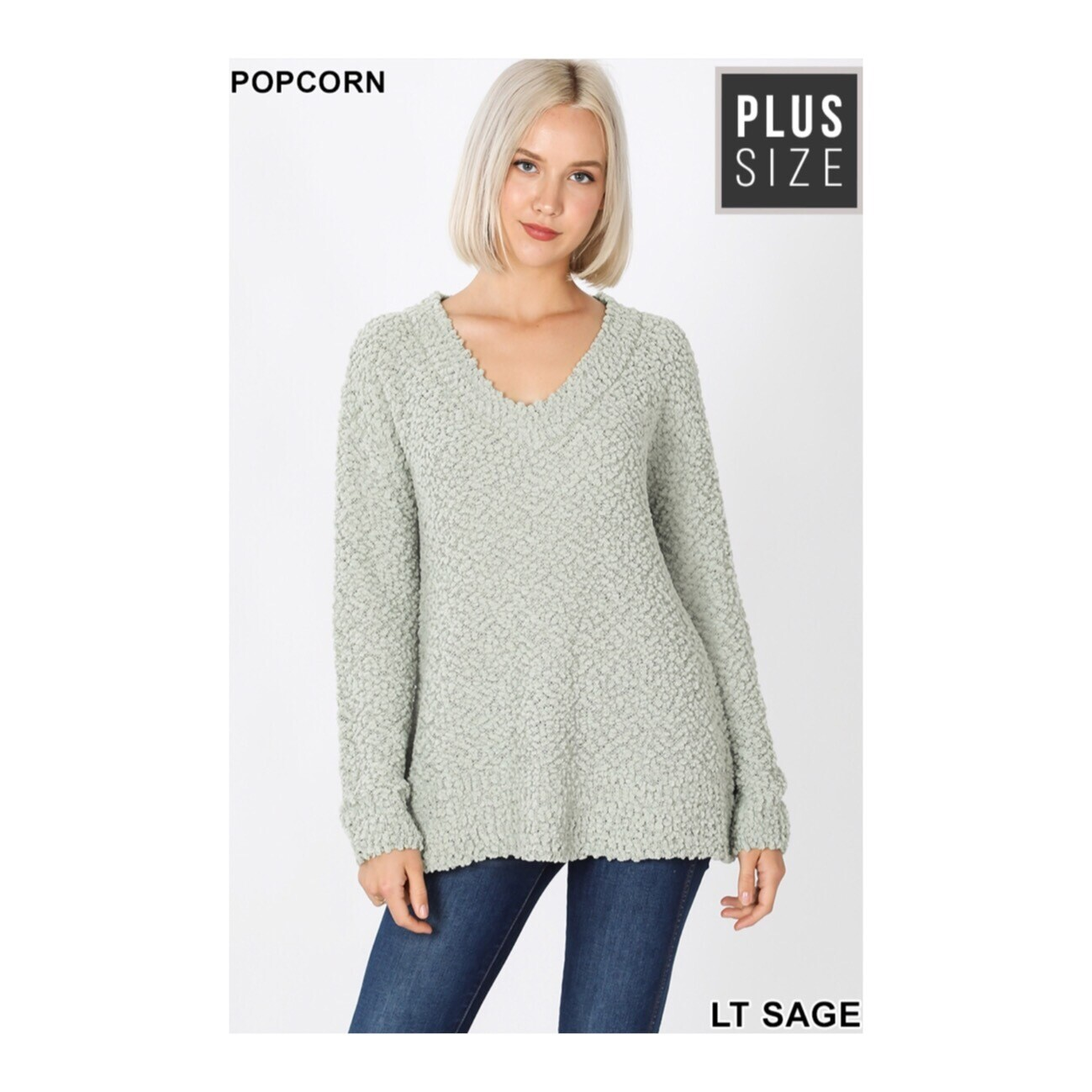 Popcorn Sage Sweater