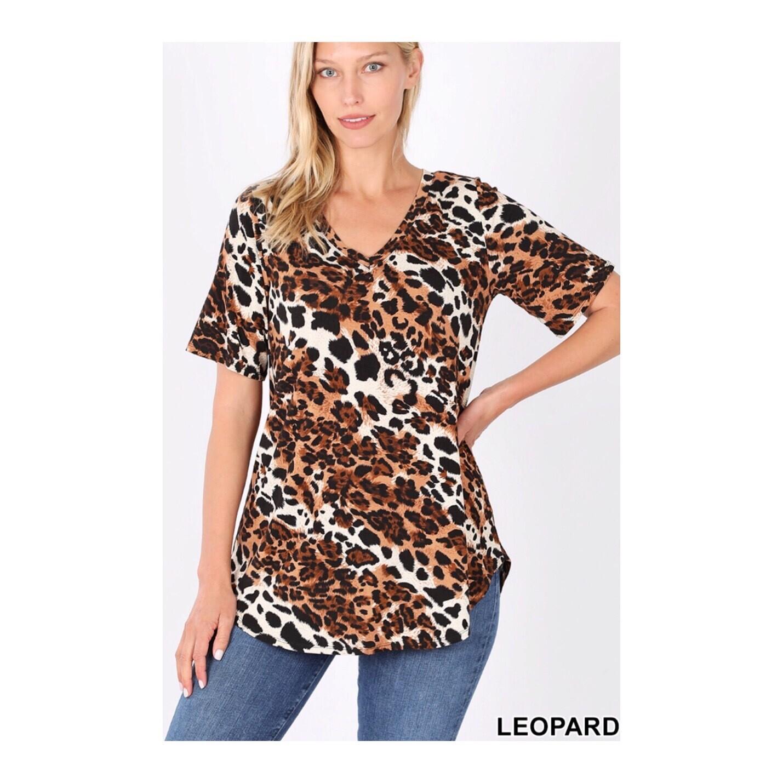 Leopard V Neck