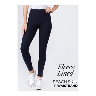 "1""Band Fleece Leggings"