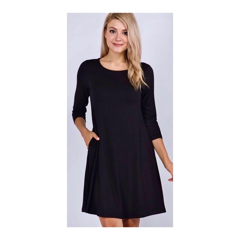 Solid Black Dress