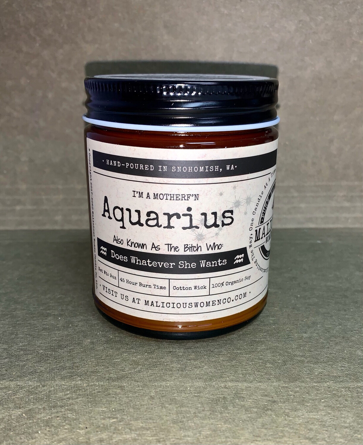 Zodiac Sign Candle: Aquarius