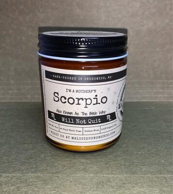 Zodiac Sign Candle: Scorpio