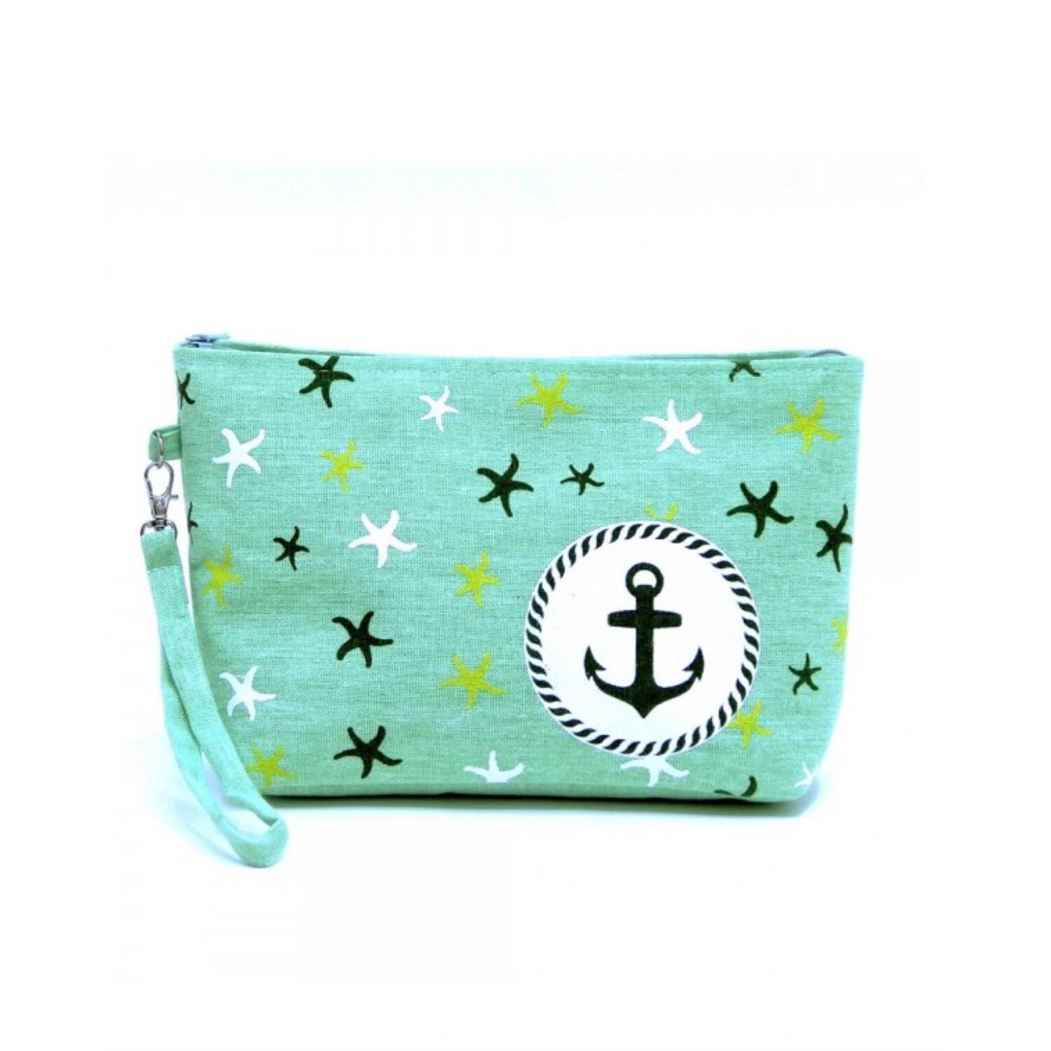 Mint Starfish Wristlet