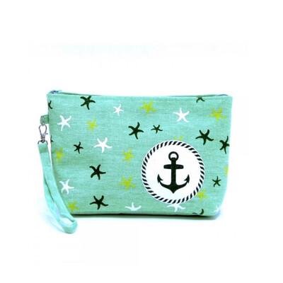 Mint Starfish Wristlet