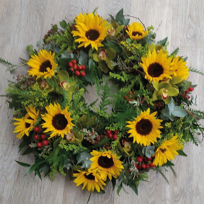 Wild Sunflower Wreath