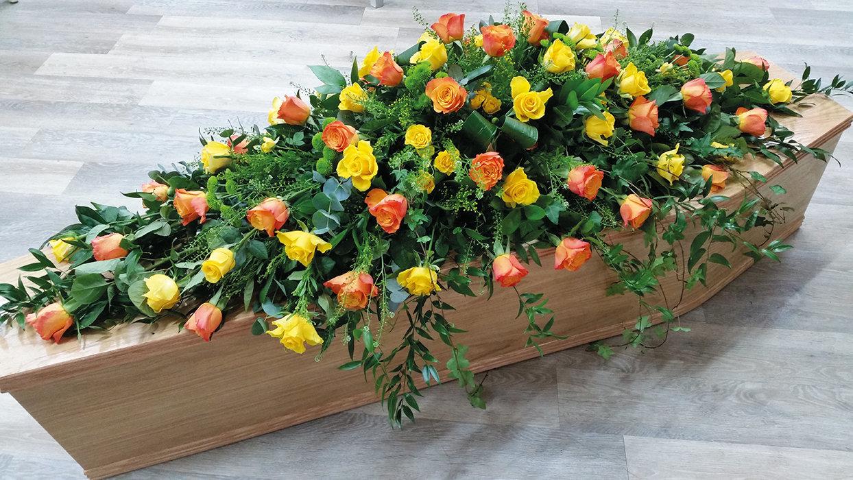 Yellow & Orange Coffin Spray