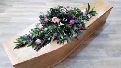 Pink & Purple Coffin Spray