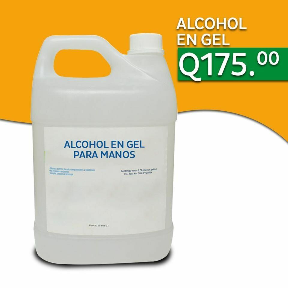 Alcohol en gel para manos