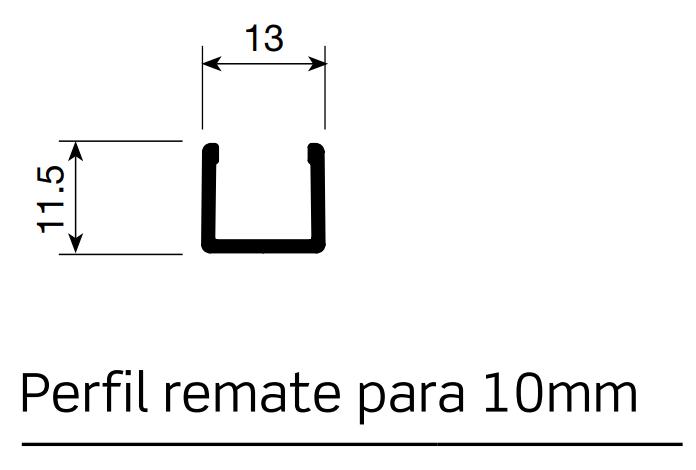 PERFIL REMATE 10 MM (PUERTA JAPONESA) (2 mts)