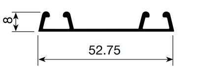 RIEL INFERIOR 2 PUERTAS (4.20 mts)