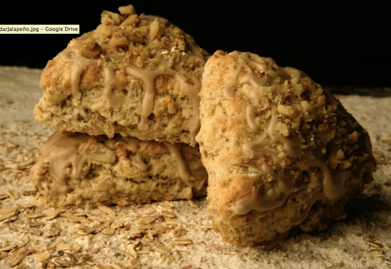 Maple, Oat and Nut Scones