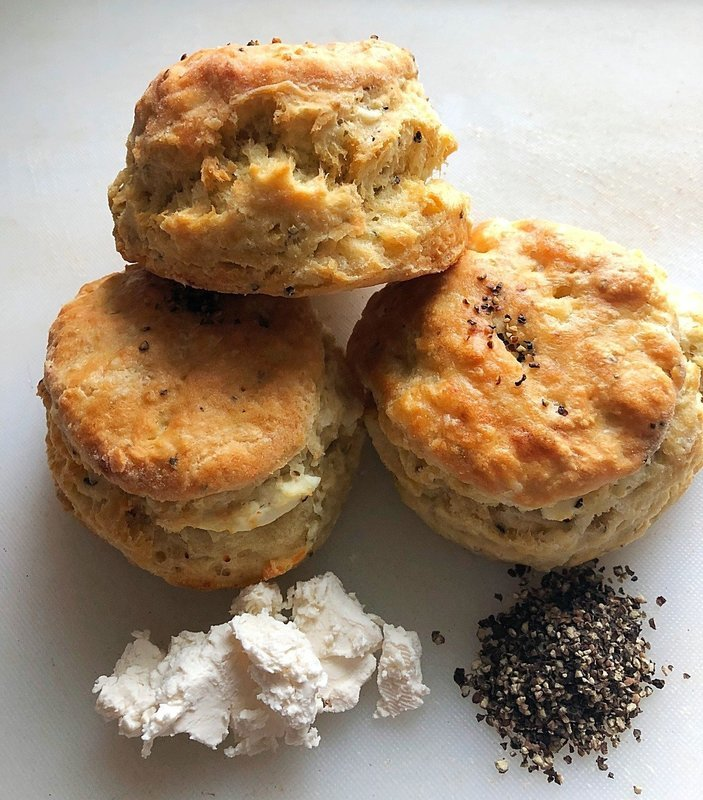 Goat Cheese and Cracked Black Pepper