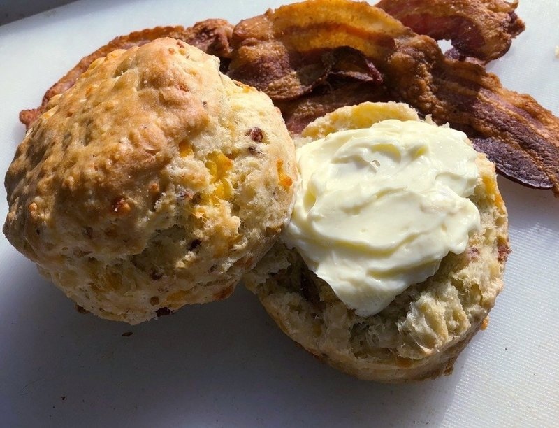 NY Cheddar & Smokey Applewood Bacon Biscuit