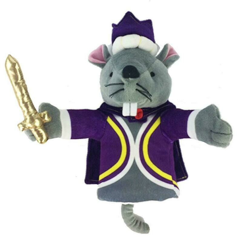 Plush Mouse King Hand Puppet