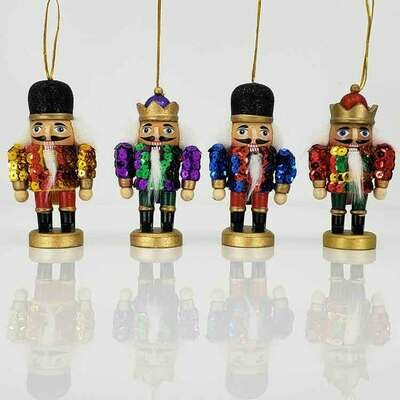 Stubby Sequin Nutcracker Ornament