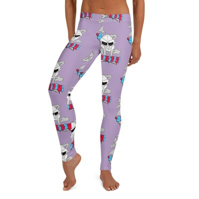 Purple Red Eyed Radioactive Doomsday Leggings