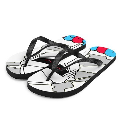 Red Eyed Radiactive Doomsday ONE Flip-Flops