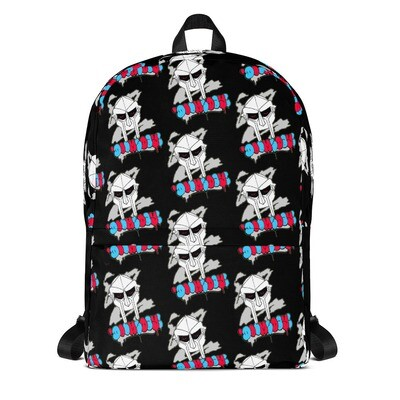 Black Red Eyed Radioactive Doomsday Laptop Backpack