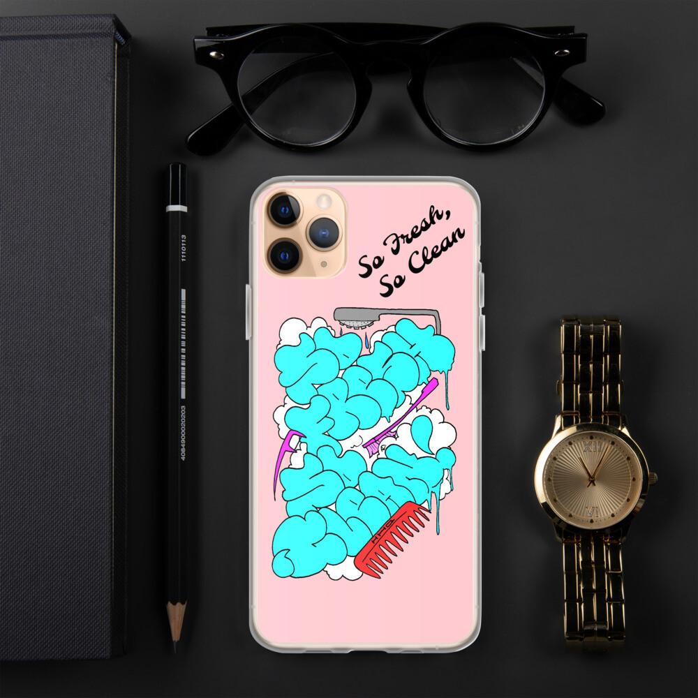 """So fresh, So Clean Ultra Crisp"" Pink iPhone Case"