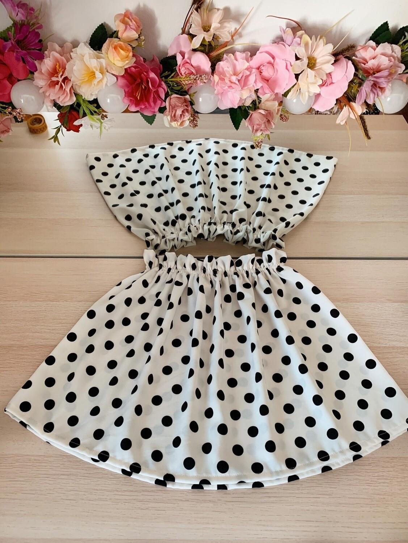Falda Blanca Topos