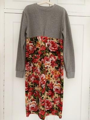 Sudadera vestido floral