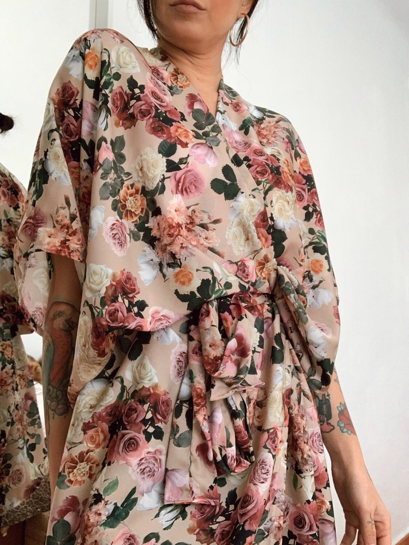 Kimono corto floral