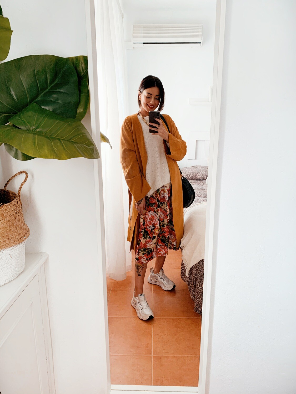 Falda midi floral