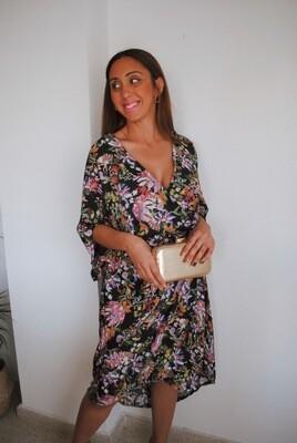 Kimono midi FLORIDA NEGRO