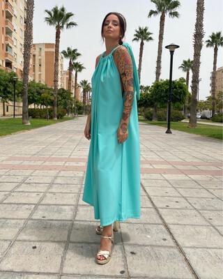 Vestido Zahara AGUAMARINA