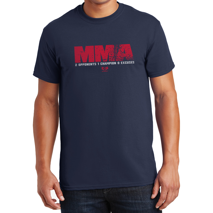 MMA 210 - 2 Opponents 1 Champion 0 Excuses GRAPHIC TEE - Navy